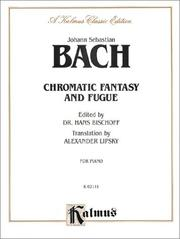 Chromatic Fantasy and Fugue (Kalmus Edition) [Paperback] and Bischoff, Hans