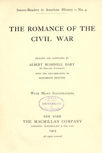 Download The romance of the Civil War