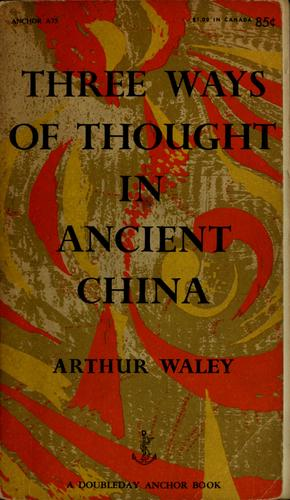 Three ways of thought in ancient China.