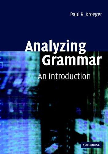 Download Analyzing Grammar