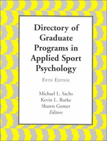Download Directory of Graduate Programs in Applied Sport Psychology