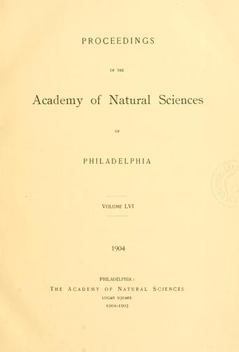 Download Proceedings of the Academy of Natural Sciences of Philadelphia, Volume 56
