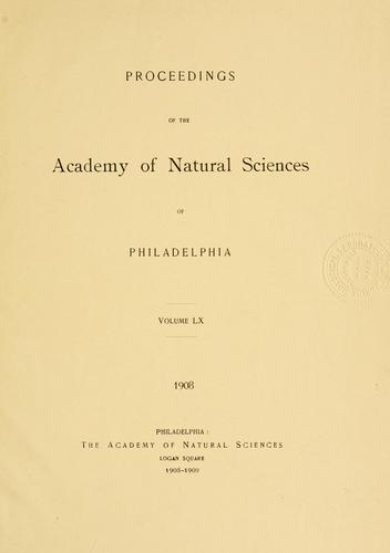Download Proceedings of the Academy of Natural Sciences of Philadelphia, Volume 60