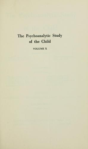 Psychoanalytic study of the child by Otto Fenichel