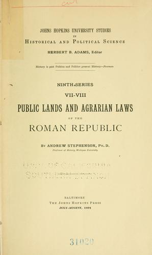 Download Public lands and agrarian laws of the Roman republic