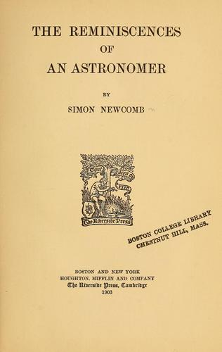 Download The reminiscences of an astronomer
