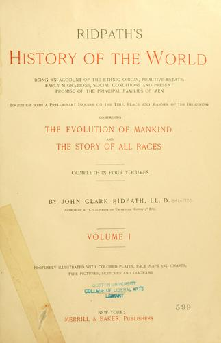 Download Ridpath's history of the world
