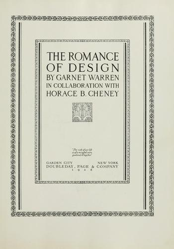 Download The romance of design
