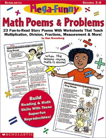 Mega-Funny Math Poems & Problems (Grades 3-6) by Dan Greenberg