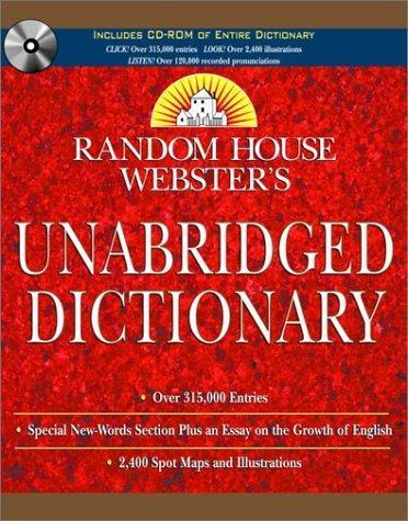 Random House Webster's Unabridged Dictionary Book & CD-ROM Set by Random House
