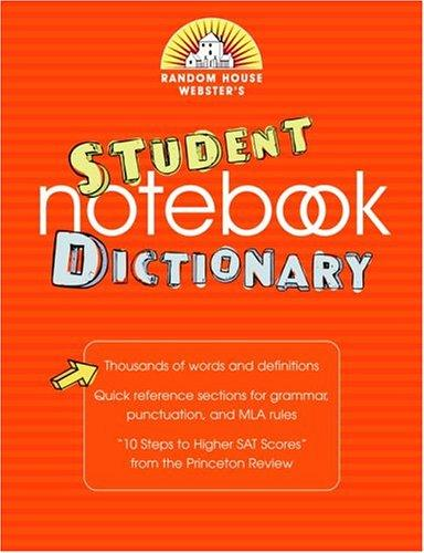 Random House Webster's Student Notebook Dictionary by Random House