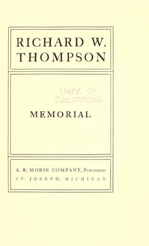 Richard W. Thompson memorial by