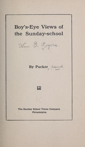 Boy's-eye views of the Sunday-school by William O. Rogers