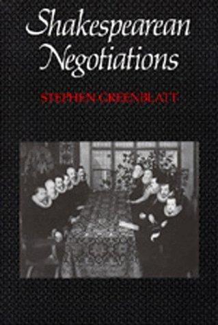 Shakespearean Negotiations