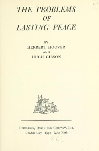 The problems of lasting peace