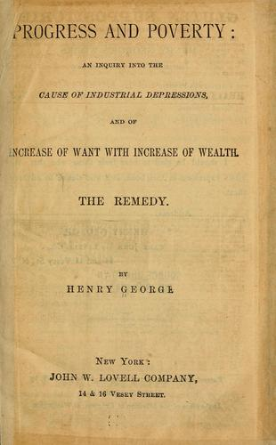 Progress and proverty by George, Henry