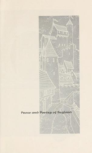 Prose and poetry of England by [ed.] by Julian L. Maline.