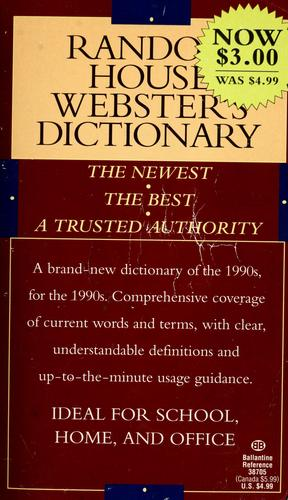 Random House Webster's dictionary by