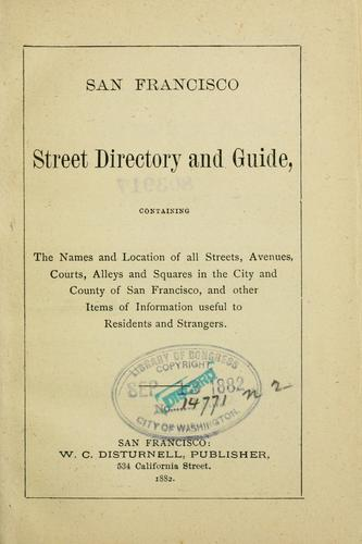 San Francisco street directory and guide by