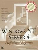 Windows Nt Server 4 Professional Reference by New Riders Development